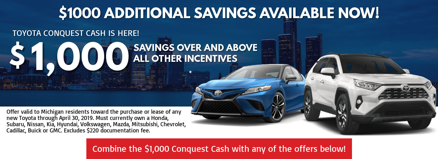 New Toyota Lease Finance Specials Near Macomb Mi